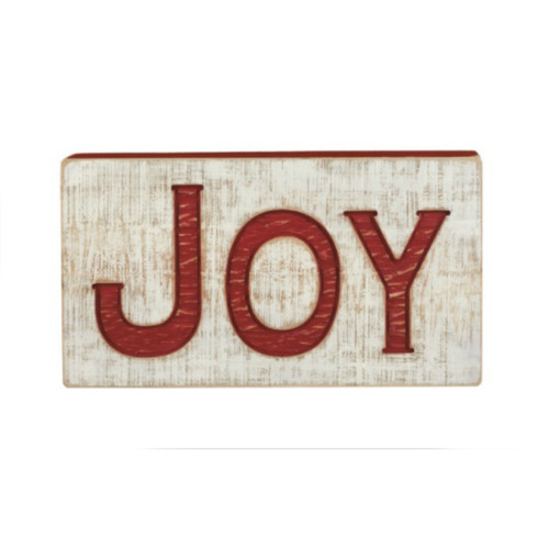 Jumbo Joy Carved Box Sign