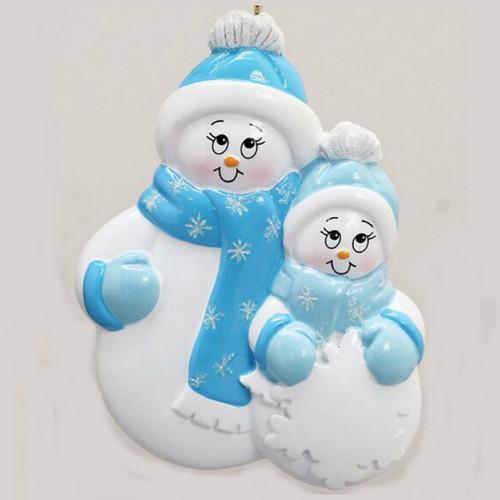 Free Personalization - Snowman Plus 1 Ornament