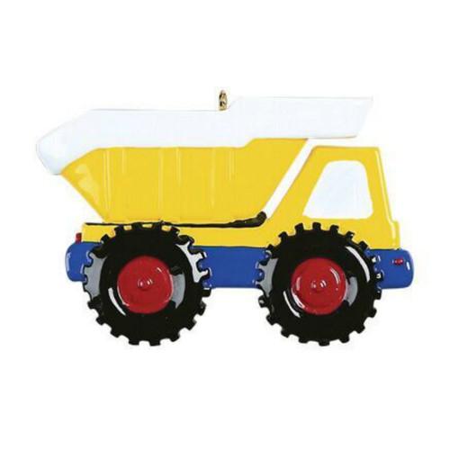 Free Personalization - Dump Truck Ornament
