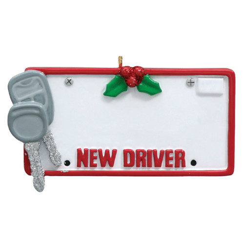 Free Personalization - New Driver License Plate Ornament