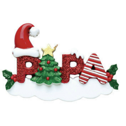 Free Personalization - Papa Ornament