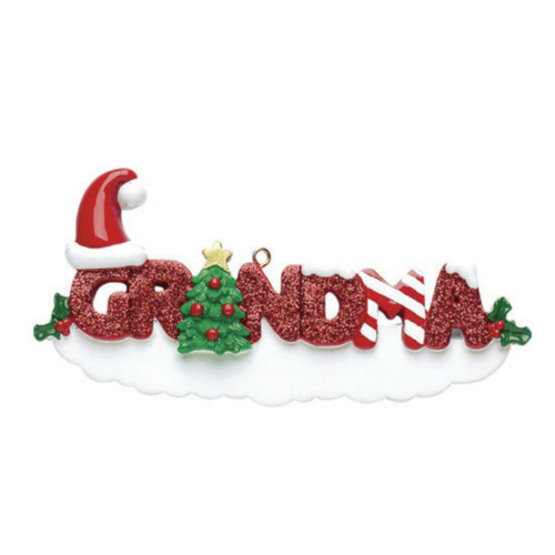 Free Personalization - Grandma Ornament
