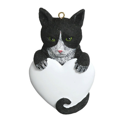 Free Personalization -  Tuxedo Cat Ornament