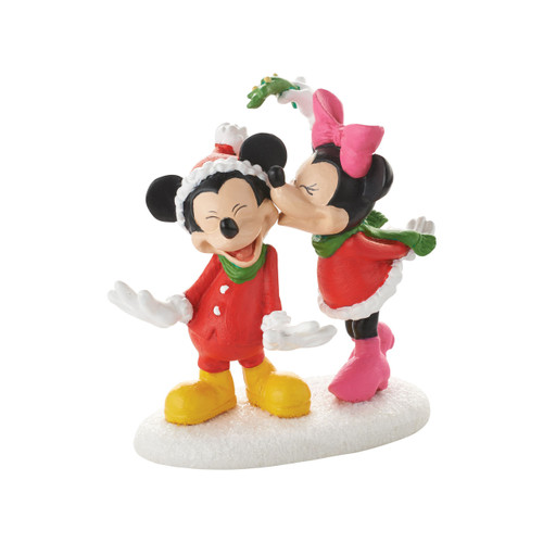 Department 56- Mickey Village Accessories- Mickeys' Christmas Kiss
