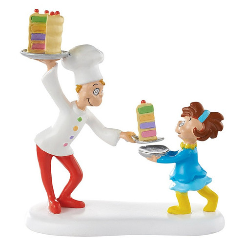 Department 56- Grinch Village Accessories- Cake for Who? Cake for You!
