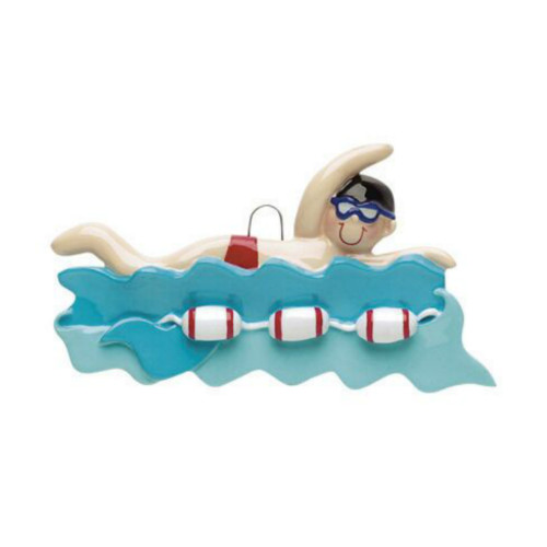 Free Personalization - Male Swimmer Ornament