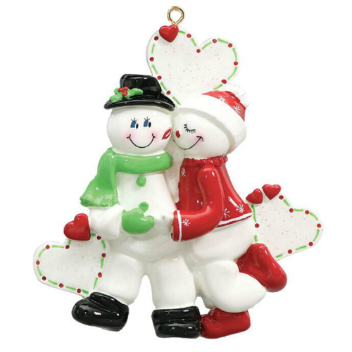 Free Personalization - Snow Sweethearts Ornament