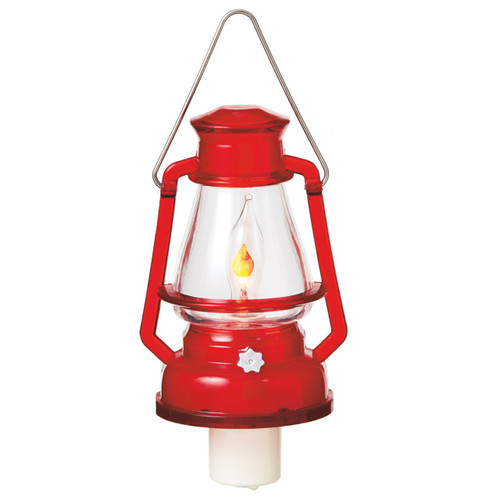 Red Flickering Lantern Night Light