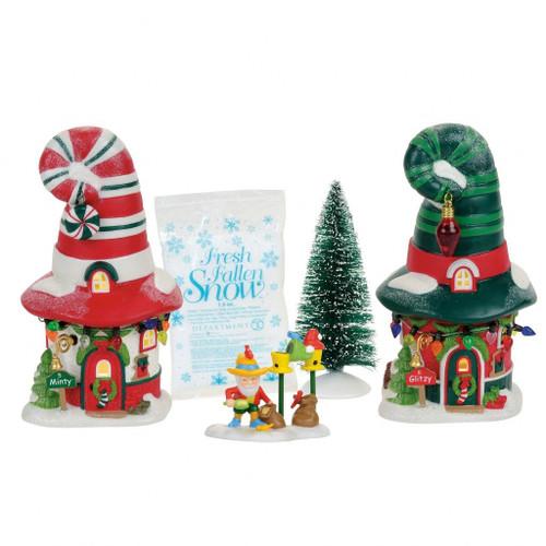 *New 2017* Department 56- North Pole Village- Merry Lane Cottages Box Set