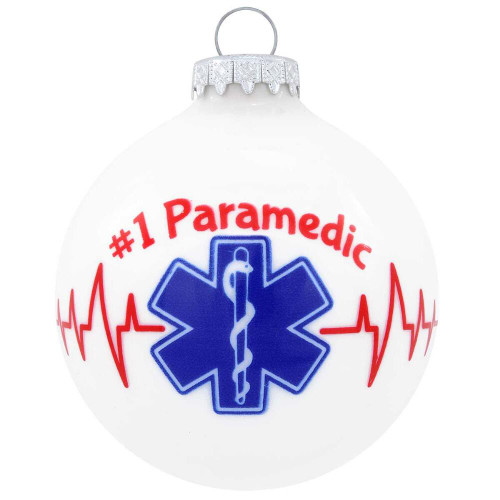 Number 1 Paramedic Glass Ornament