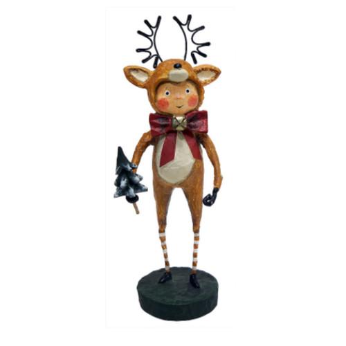 Lori Mitchell Folk Art - Little Dasher Figurine
