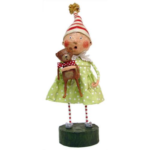 Lori Mitchell Folk Art - Discovering Santa Figurine