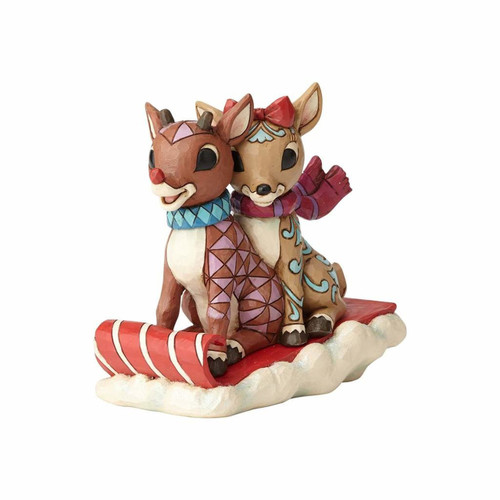 * New 2017* Jim Shore Heartwood Creek- Rudolph and Clarice Sledding