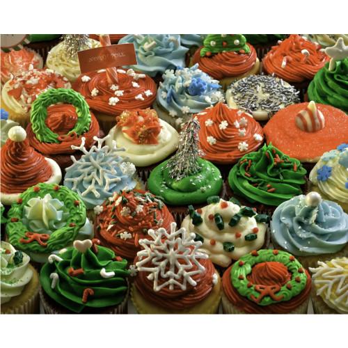 Christmas Cupcakes 1000 Piece Jigsaw Puzzle