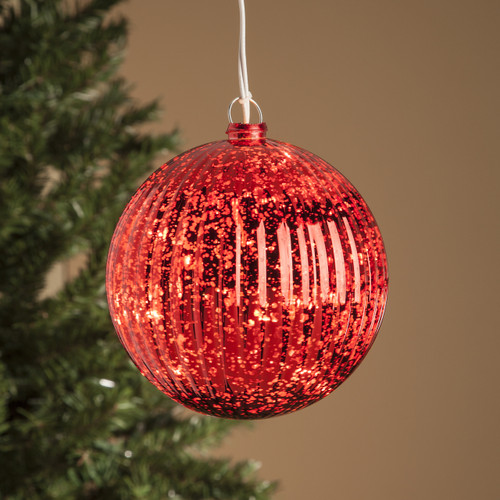 Red Globe Ornament