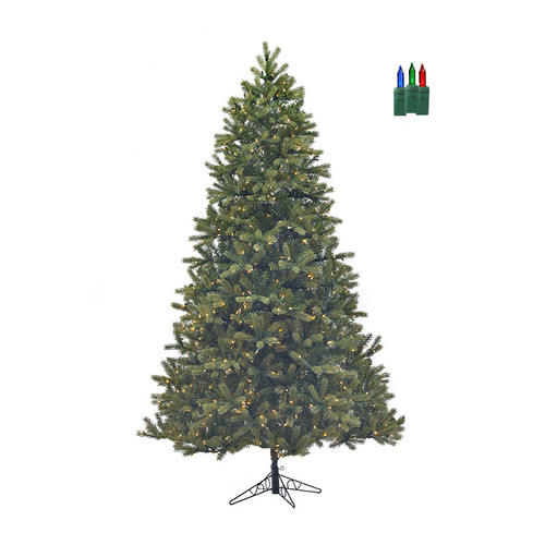 Santa's Own* 7.5ft Bridgeport Douglas Fir-  Artificial Christmas Tree - Staylit® BriteMulti Lights - *FREE SHIPPING*