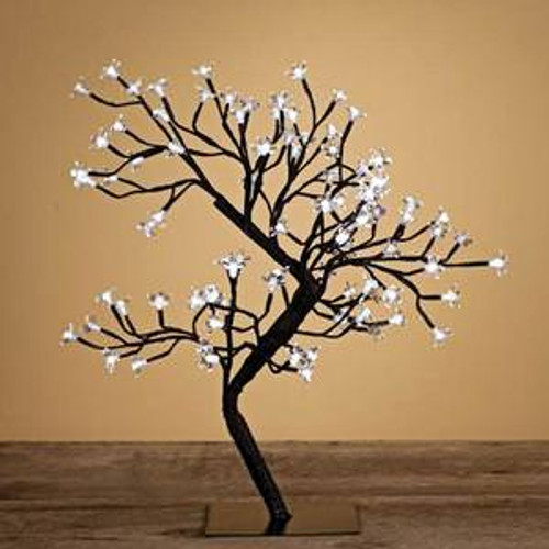 Indoor / Outdoor Table Top Bonsai Tree - Clear LED Lights