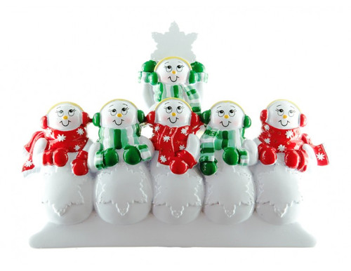 Free Personalization* Snowpeople Family of 6