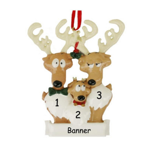 Free Personalization* Reindeer Family of 3