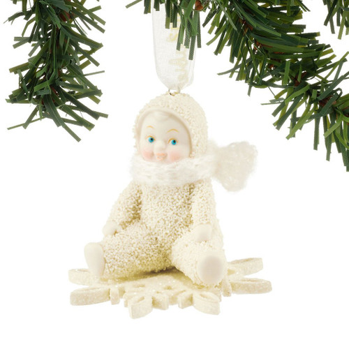 Snowbabies - Drifting on Snowflake Ornament