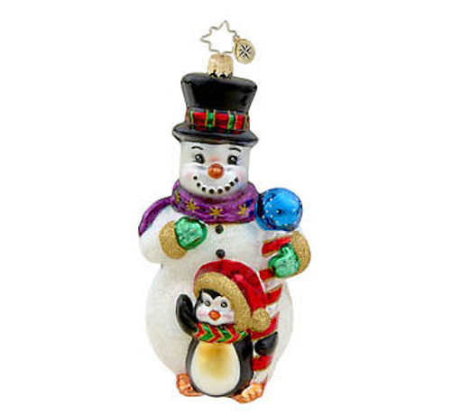 Radko - Frosty Fellows Snowman and Penguin