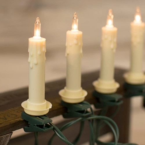 Ivory Candle Light Set of 7, 11.5 Ft
