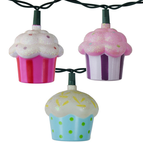 Cupcake String Novelty Lights - Indoor and Outdoor - 11Ft