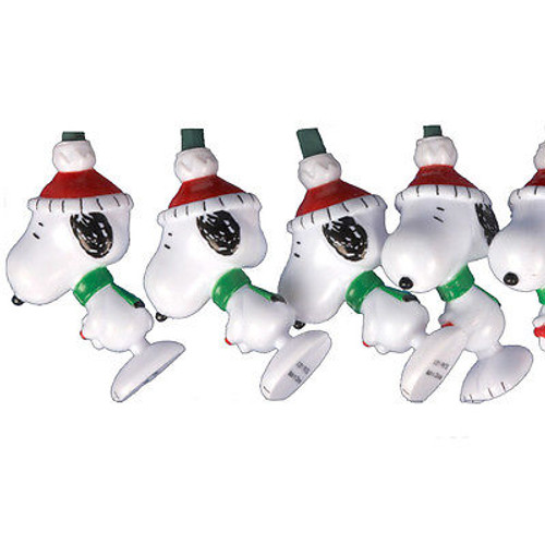 Peanuts Christmas Santa Snoopy 10-Light String Light