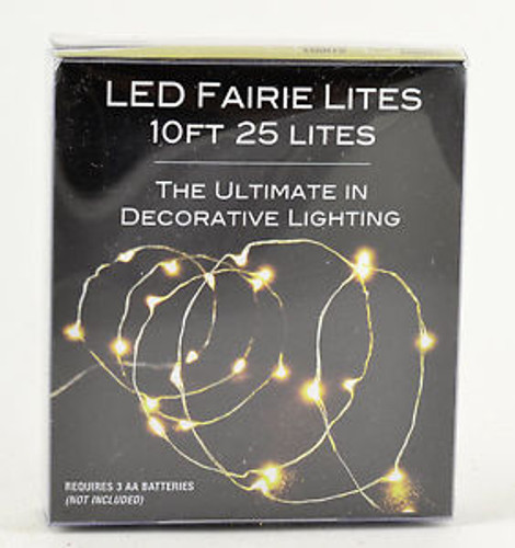 ULTRA THIN LED WARM WHITE CHRISTMAS FAIRIE STRING LIGHTS - BATTERY OPERATED