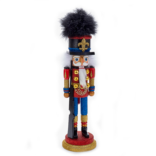 18 inch Hollywood Nutcracker Red and Blue Soldier Wooden Figurine