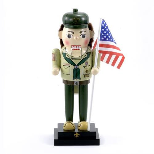 13 inch Wooden Boy Scout Nutcracker