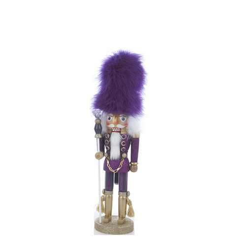 17 inch Hollywood Nutcracker Purple Furry Hat