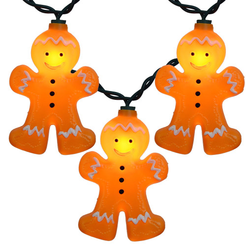 10 Gingerbread Novelty String Lights