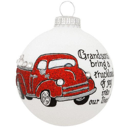 Heart Gifts by Teresa - USA Made Grandsons Bring a Truckload of Joy Ornament