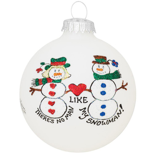 Lovers Snowman Loveheart Ornament