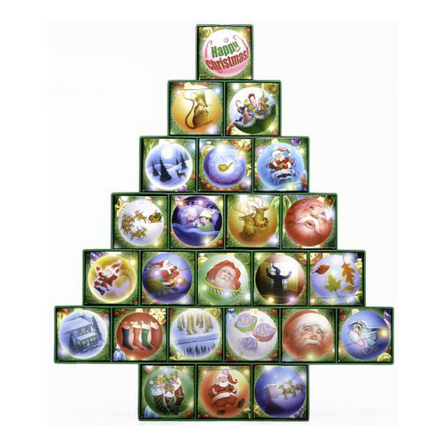 Christmas Tree Treasure Box Advent Calendar Countdown to Christmas