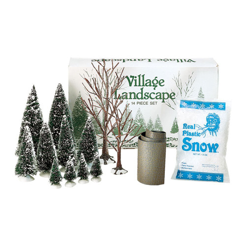 Department 56  Village Accessories - Landscape Trees Snow Road