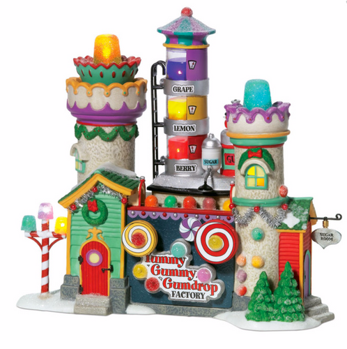 Department 56 - North Pole Series - Yummy Gummy Gumdrop Factory