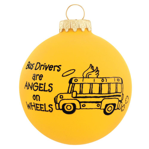 Yellow Bus Drivers are Angels on Wheels Ornament