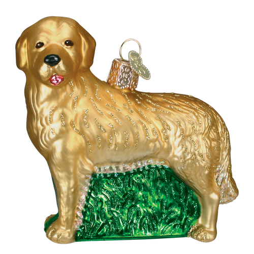 Old World Glass - Golden Retriever Ornament