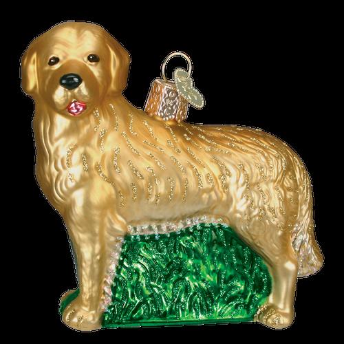 Old World Glass - Golden Retriever Ornament