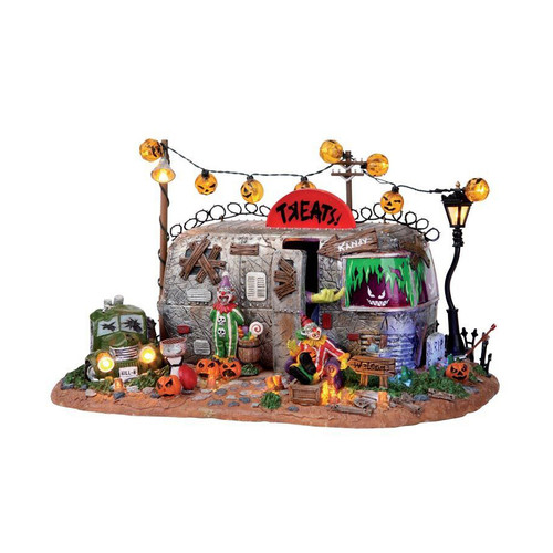 LEMAX Halloween - Killer Clown Mobile Home Trailer with Scary Clowns and Orange Lights