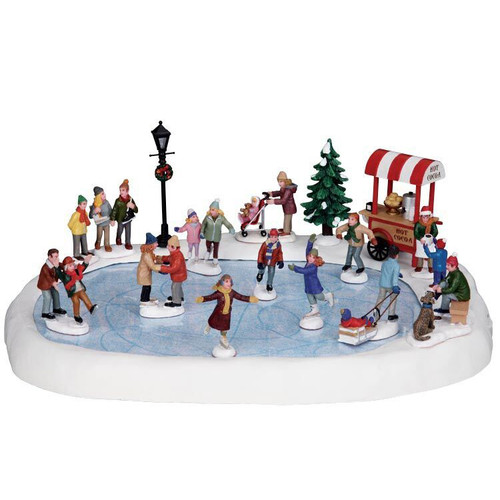 LEMAX- Village Skating Pond Set of 18