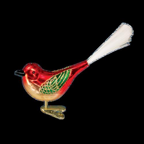 Old World Glass - Cheery Songbird Ornament