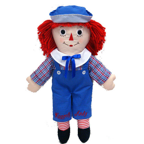 Extra Large Raggedy Andy Classic Doll 25 inches!