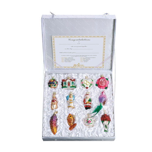 Old World Christmas Glass  - 12 Pc. Ornament Bride Gift Box Set