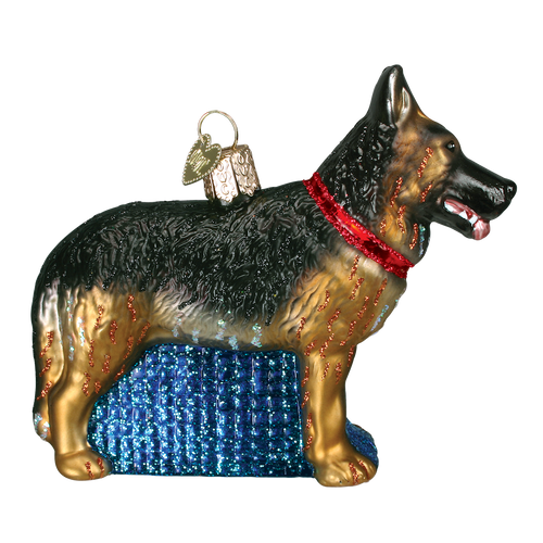 Old World Glass - German Shepherd Ornament
