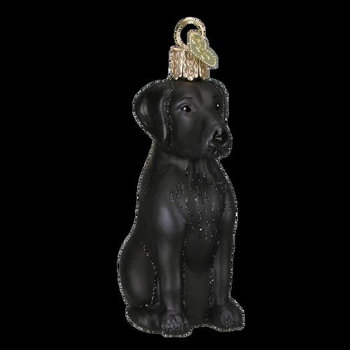 Old World Glass - Black Labrador Ornament