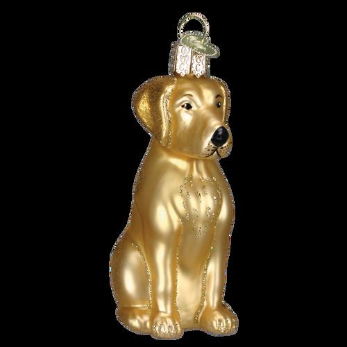 Old World Glass - Yellow Labrador Ornament