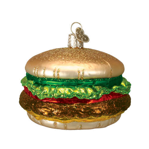 Old World Glass -Cheeseburger Ornament